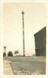 C-1915 Totem Pole Tacoma Washington RPPC Photo Postcard 20-4197