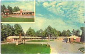 Griffin Motel, Griffin, Georgia, GA U.S. Highways 19 & 41, Chrome
