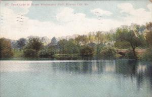 Missouri Kansas City Swan Lake In Mount Washington Park 1908