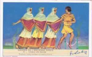 Liebig S1439 Ancient Greek Dances No 4 Choeur de Danse