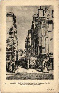 CPA Ancien PARIS - Hotel Barbette (88841)