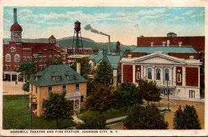 New York Johnson City Goodwill Theatre and Fire Station Curteich