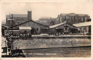 Lot119  the wharf and cathedral freetown real photo nigeria