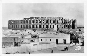 Tunisia El Djem (Thysdrus) Theatre Romain, Le Colisee Panorama