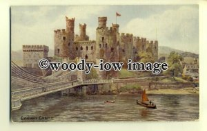 ar0271 - Conway Castle Bridge and River, *1079 - Artist A.R.Quinton - postcard