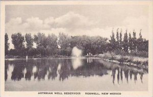 New Mexico Roswell Artesian Well Reservoir Albertype