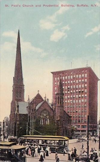 New York Buffalo Saint Pauls Church And Prudential Building