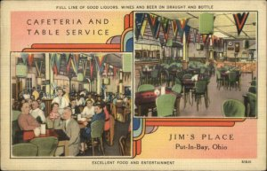 Put-In-Bay OH Jim's Place NICE LINEN Postcard