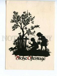 241344 GERMAN SILHOUETTE Elf PLISCHKE 1964 RPPC w/ ADVERTISING
