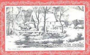 Christmas Postcard, Post Card Old Vintage Antique Carte, Postal Postal writin...