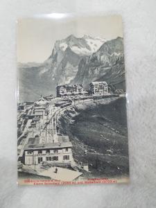 Antique Postcard entitled Klene Scheldegg und Jungiraubahn Wetterhorn