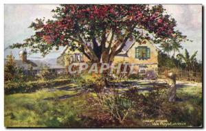 Old Postcard Great House Vale Royal Jamaica