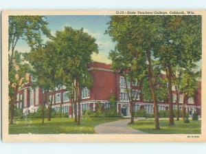Linen BUILDING AT STATE TEACHERS COLLEGE Oshkosh Wisconsin WI L9400