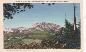 Electric Peak From Bunden Peak Yellowstone National Park Curteich