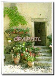 Postcard Modern Landscape Ardechois flower Image