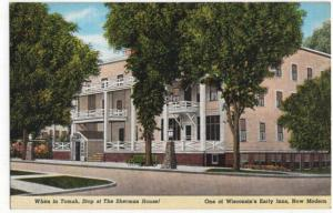 Tomah, Wisconsin, Early View of The Sherman House