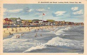 Boardwalk & Beach in Ocean City, Maryland