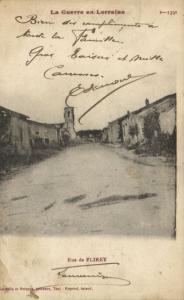 CPA Militaire (Dep.54) La Guerre en Lorraine - Rue de Flirey (91831)
