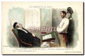 Old Postcard The humourists Jadis Daumier (forcat policeman robber)