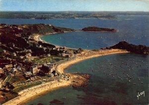 France Trebeurden Les Plages Pointe de Bihit Beach Air view Postcard
