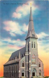 Danbury, Connecticut, CT, St. Peter's Church, Unused Vintage Postcard e4290