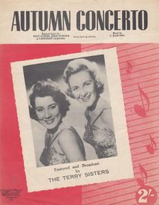 Autumn Concerto The Terry Sisters 1950s Sheet Music