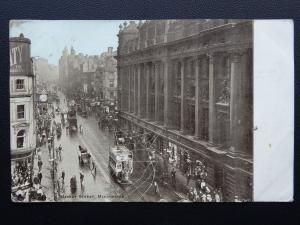 Manchester MARKET PLACE Animated Street Scene c1906 Postcard by ETWD
