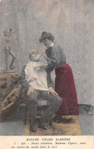 Couple Madame Figaro Barbiere Faites attention, Madame Figaro