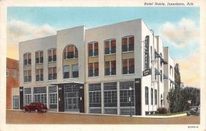 Jonesboro Arkansas~Hotel Noble Coffee Shop~Art Deco Glass Front~1939 Linen PC