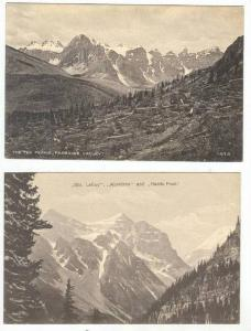 2 postcards, Mts, Paradise Valley, Alberta, Canada, 00-10s