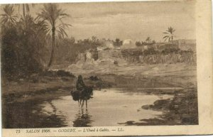 CPA AK TUNISIE Godeby - L'Oued a GABES (134075)