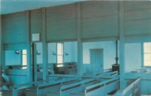 West Branch Iowa~Herbert Hoover Library~Interior Friends Meeting House~1960s