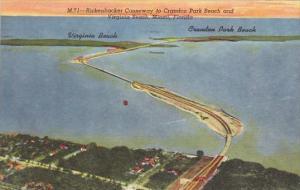 Florida Miami Rickenbacker Causeway To Crandon Park Beach And Virginia Beach ...