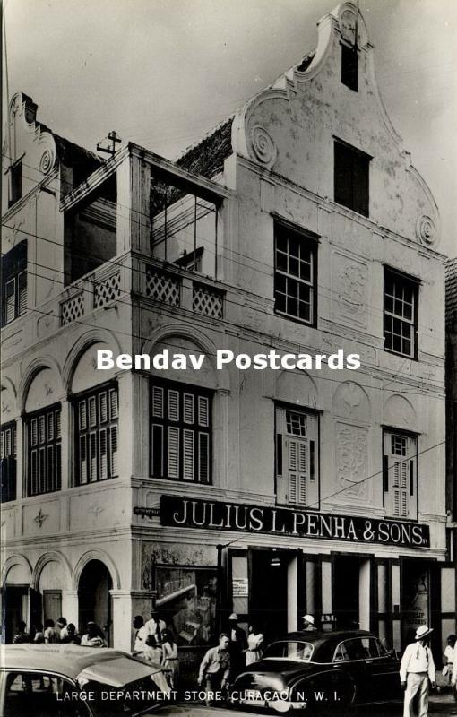 curacao, N.A., WILLEMSTAD, Large Department Store Julius L. Penha (1950s) RPPC