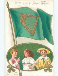 Divided-Back ST. PATRICK'S DAY SCENE Great Postcard W8159