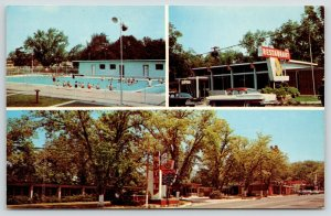 Chipley Motel & Restaurant FL~Swimming Pool~1950s Car w/Fins~AAA Approved