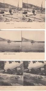 Lot 3 early stereo images stereographic views all MENTON France