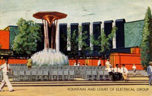 IL - Chicago. 1933 World's Fair, Century of Progress. Electrical Group, Fount...