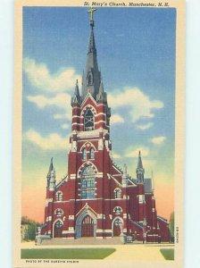 Linen CHURCH SCENE Manchester New Hampshire NH AD0944-12