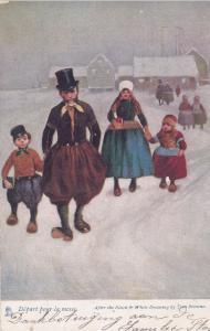 Dutch Family , Depart pour la messe , 1900-10s : TUCK
