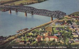 Memphis And Harraham Bridges And U S Marine Hospital Memphis Tennessee
