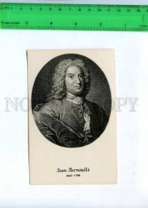 198512 Jean BERNOULLI Swiss mathematician Vintage 1934