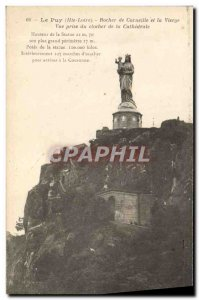 Old Postcard Le Puy Rocher Corneille and the Virgin View from the bell tower ...