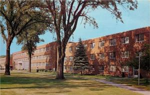 Lake Menomin WI~Stout State College Dormitory For Women~Variety of Trees~1950s