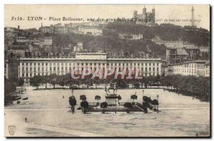 Old Postcard Lyon Bellecour Square One Of The Nicest D & # 39Europe