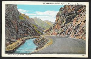 Bear Creek Canon Highway Denver Mountain Parks Colorado Unused c1930s