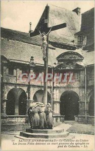 Old Postcard Sainte Anne d'Auray cloister Calvary girls desiring a husband pl...