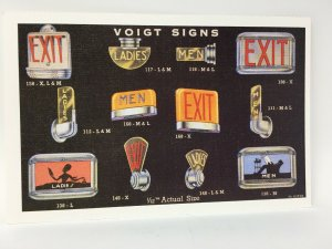 Voigt Signs Advertising Postcard 1989 Reprint