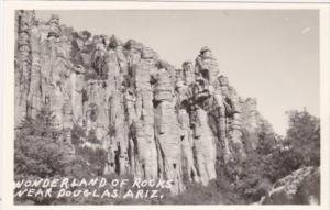Arizona Wonderland Of Rocks Near Douglas Real Photo