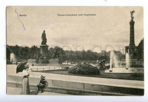 138405 Germany BERLIN Bismarck Monument & Victory Column OLD
